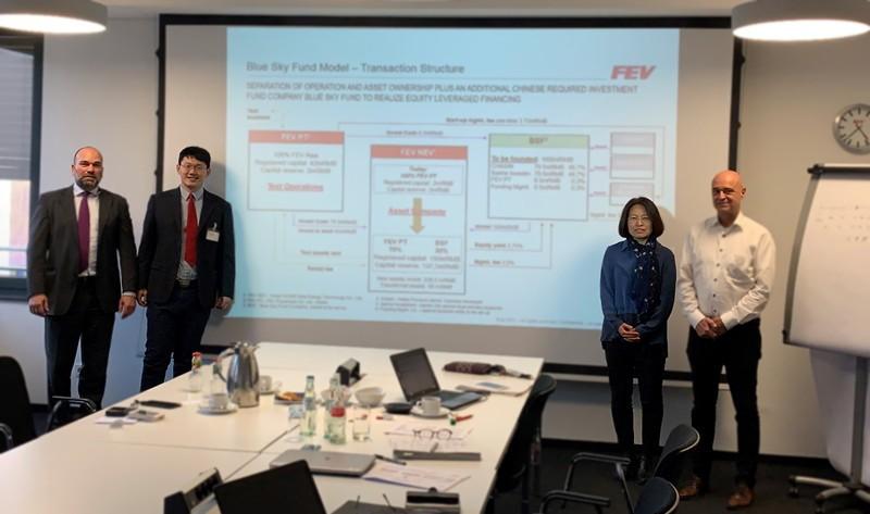 yabo402公司赴德国FEV项目考察洽谈